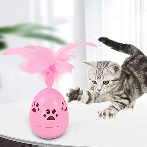 Redcolourful Lustiges Katzenspielzeug Katzenbecher mit Federglocke Interaktives Lernspielzeug für Heimtierbedarf Pink Perfect Pet Supplies