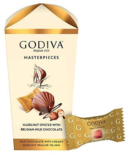 Godiva Masterpieces Hazelnut Oyster with Belgian Milk Chocolate 193g
