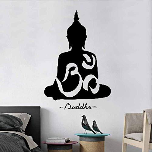 wopiaol Religiöses Yoga Abnehmbare Tapete PVC Wandkunst Dekor Blumen Wand ArtYoga Studio 50X75cm