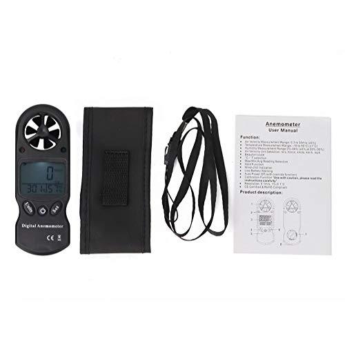 OKBY Anemometro Wind Speed - TL-300 3-en-1 Mini Handheld Multifunción Termómetro Digital Higrómetro Anemómetro Digital