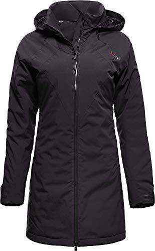 YETI RAA W's Hardshell Down Coat Damen Hardshellmantel mit Daune Mantel, Black, Größe XL
