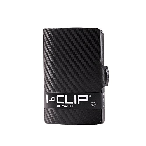 I-CLIP ® Cartera Carbon, Gunmetal-Black (Disponible En 2 Variantes)