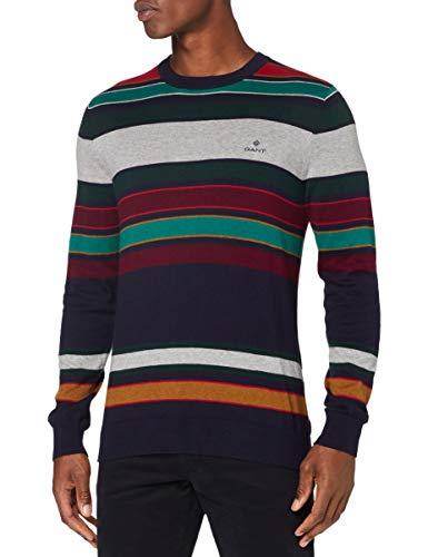 GANT Herren D1. Multi Stripe Crew Pullover, Multicolor, 4XL