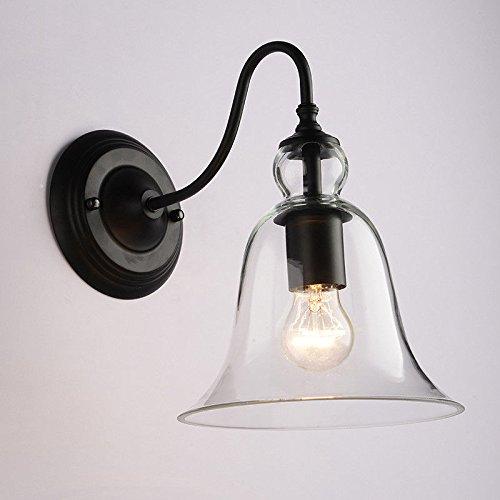 JJZHG wandlamp wandlamp kristal muur lamp glas hoorn slaapkamer nachtlampje woonkamer gangpad spiegel koplampen omvat: wandlampen, wandlamp met leeslamp, wandlamp met stekker
