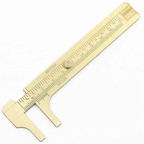 YWSZJ 10cm Pinza De Cobre De Doble Escala Wenwan Caliper Mini Vernier Caliper Nuez Calibrador Calibrador De Cobre Joyería De Medición Jade