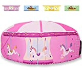 HIYA Tents for Kids, Blow Up Forts, Inflatable Fort for Kids, Merry Go Round Playground Theam Fort, Set Up in Seconds