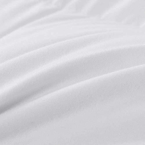 ROYALAY Luxurious All-Seasons White Down Comforter-Solid, Lightweight Corner Duvet Tabs, 100% Cotton Cover,600 Fill Power,37OZ,Down Fiber Blend, White Down Comforter (King)