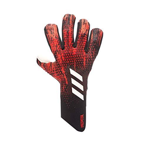 adidas Predator Pro Fingersave, Guante de Portero, Black-Active Red