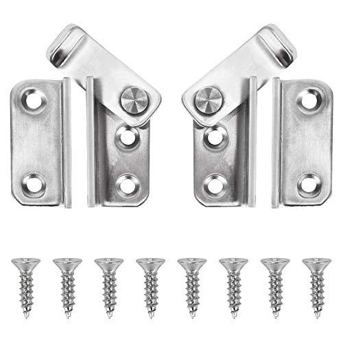 ManLee 2pcs Türriegel Edelstahl Türverriegelung mit Schloss Riegelschloss mit 8 Schrauben Tür Riegel für Tür Fenster Möbel Badezimmer Tiertür