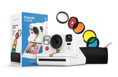 Polaroid Now+ White (9062) - Bluetooth Connected I-Type Instant Film Camera