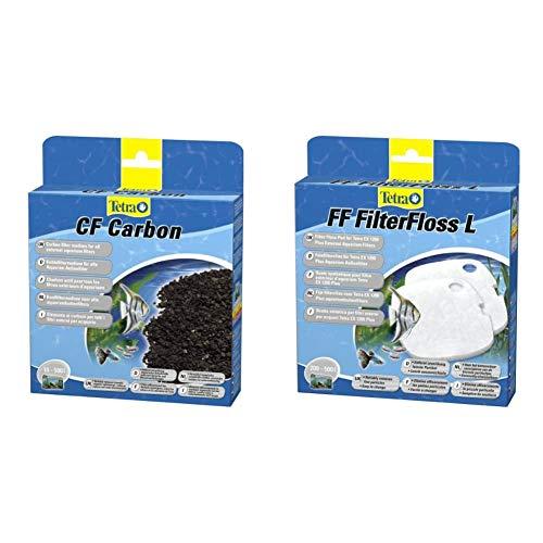 Tetra CF Carbon Kohlefiltermedium - Filtermaterial EX Außenfilter, versch. Größen & FF FilterFloss L - Feinfiltervlies Außenfilter EX 1200 Plus