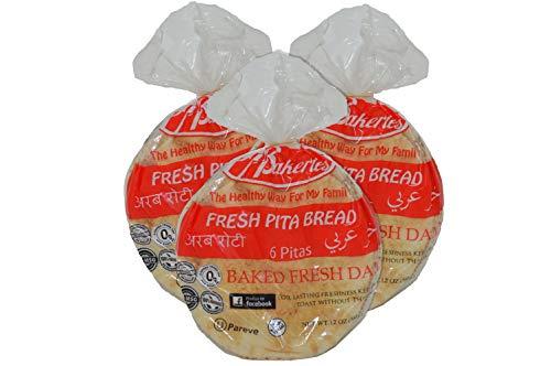 P-Tabun Fresh White Pita Bread- 6 Pcs ❤️no gmo ✡️OU ☮️Vegan