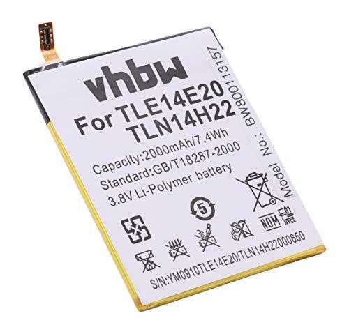 vhbw Akku passend für Wiko Highway Pure, Highway Signs Handy Smartphone Telefon (2000mAh, 3,8V, Li-Polymer)
