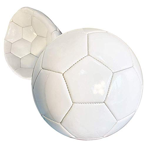 BESTSOCCERBUYS.COM Bulk White Soccer Balls Size 5 Deflated Sign Autograph Party Favors Painting Bar Mitzvah Coaches Gift