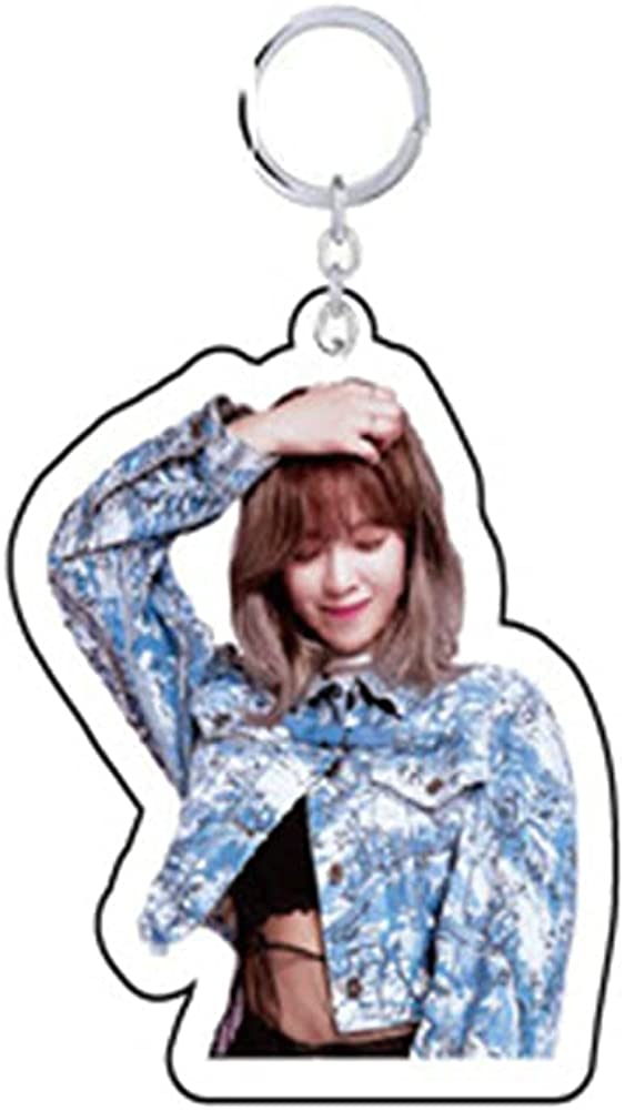 NC KPOP TWICE Yes or Yes Acrylic Keychain Individual Photo Printed Keyring for KPOP Fans