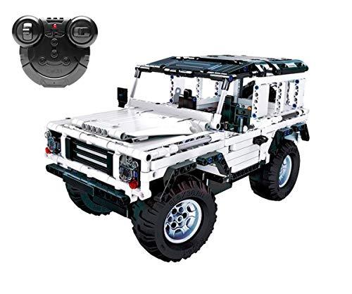 Juguetecnic Coche Teledirigido para Montar Jeep STEM toys Kit | Coches Radiocontrol Todoterreno para Niños Electrico a Bateria | Juguete Educativo 533 Piezas