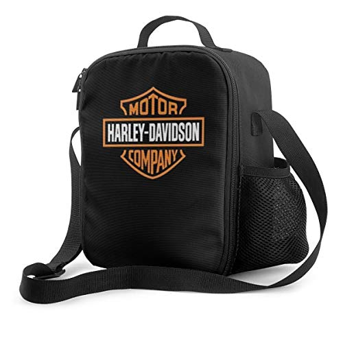 METOO SHOP Harley Davidson Logo Insulated Lunch Bag,Reusable Lunch Box, Lunch Cooler Tote