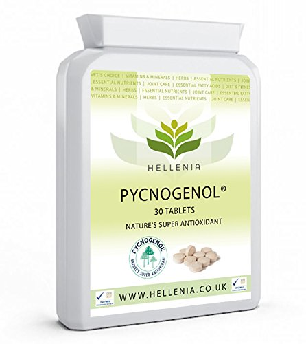 Hellenia Pycnogenol - French Maritime Pine Bark Extract 30mg - 30 Tablets