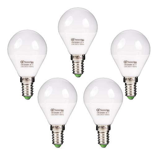 Lot de 5 ampoules LED Srerica G45 8 W E14 Blanc 6400 K 640 lm