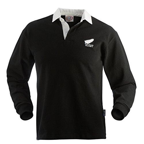 Rugby Imports New Zealand Old Style Jersey (Medium) Black