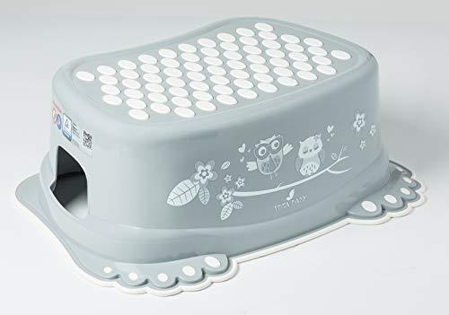 Taburete de paso, seguro, antideslizante, para bebé, niños, para entrenamiento, con capacidad Owls Grey