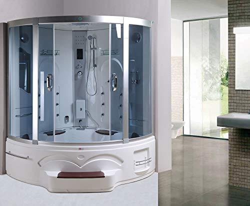 Trade-Line-Partner Dampfdusche 150x150 cm inkl. Whirlpool + Vollausstattung