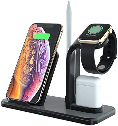 GOSETH 3 in 1 Wireless Charging Station Dock Compatible with Apple Watch Series SE 6 5 4 3 2 product image