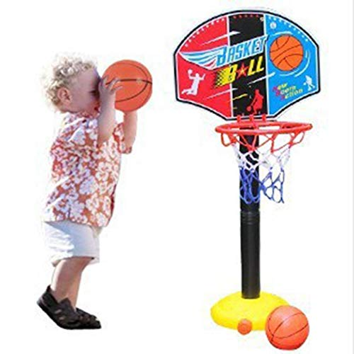 tiowea Giocattoli all'aperto 'Interno di Sollevamento Regolabili Regolabili del Ciclo del Supporto di Pallacanestro di Sport dei Bambini Sport e Giochi all'aperto