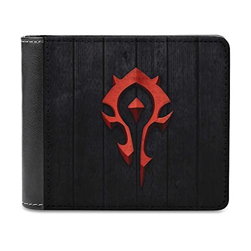 World Warcraft - Cartera portátil de piel sintética con diseño delgado de 4,6 pulgadas