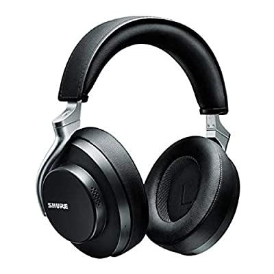 Shure AONIC 50 Wireless Noise Cancelling Headphones, Premium Studio-Quality Sound, Bluetooth 5 Wireless Technology, Comfort Fit Over Ear, 20 Hours Battery Life, Fingertip Controls - Black by Shure