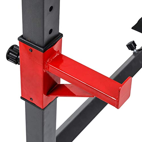 Heavy Duty Barbell Rack Adjustable Barbell Stand for Weight Bench | Weight Rack Squat Stand Squat Rack Dip Station Stand | Home Gym Strength Training Equipment Workout Fitness Exercise | 550Lbs Max
