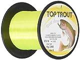 Microphone Alámbrico Negro Top Trout, Hilo de Pesca Unisex Adulto, Unisex Adulto, AMTOPTRYEL1000.020, Amarillo Fluo, 0.2 mm