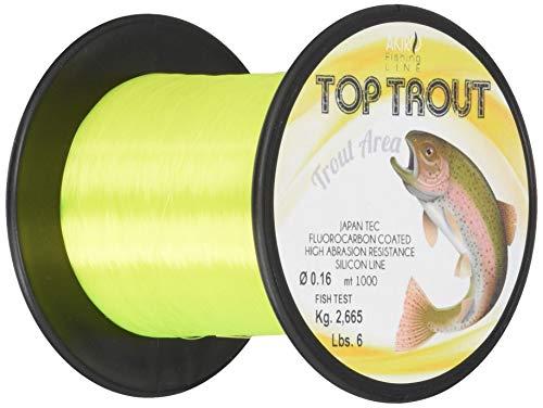 Akiro Top Trout, Filo da Pesca Unisex – Adulto, Giallo Fluo, 0.18 mm