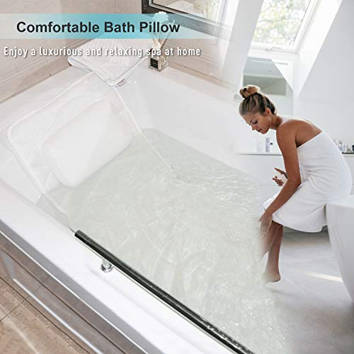 Full Body Bath Pillow, Bath Pillows for tub with Mesh Washing Bag