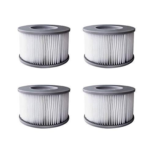 YanBan 4 x Whirlpool-Filter für MSpa aufblasbare Pools, Filterpatrone, verbesserte Version, geeignet für MSPA alle aktuellen Whirlpools.