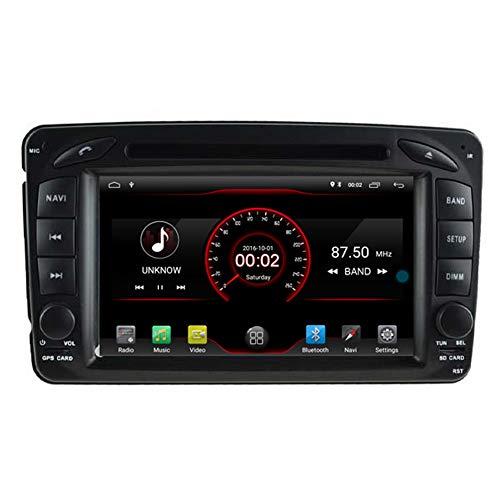 Autosion Lecteur DVD de voiture Android 10 GPS stéréo radio multimédia Wifi pour Mercedes Benz Classe C W203 CLK W209 Commande au volant