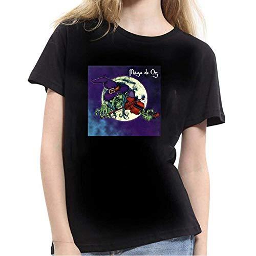 Jingliwang Mago De Oz Camiseta de Mujer Negra