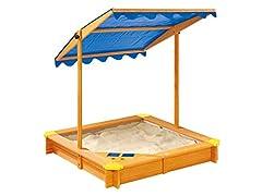 pro-manufactur sandlåda med tak och lekområde inkl.