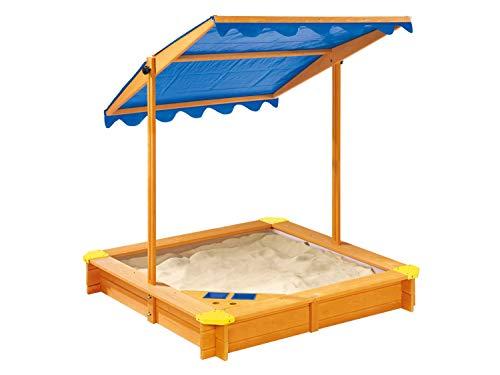 pro-manufactur Sandkasten mit Dach und Spielecke inkl. Bodenplane