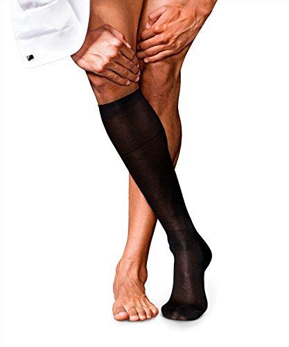 FALKE Herren No. 4 Pure Silk M KH Socken, Schwarz (Black 3000), 43-44