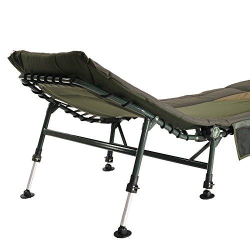 Lucx® Set XL Karpfenliege + Tasche Angelliege 8-Bein + Tragetasche Transporttasche für Liege Bedchair Bag 'XXL'