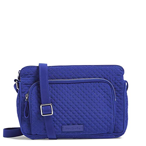 Vera Bradley Women's Microfiber Little Hipster Crossbody Purse with RFID Protection, Gage Blue