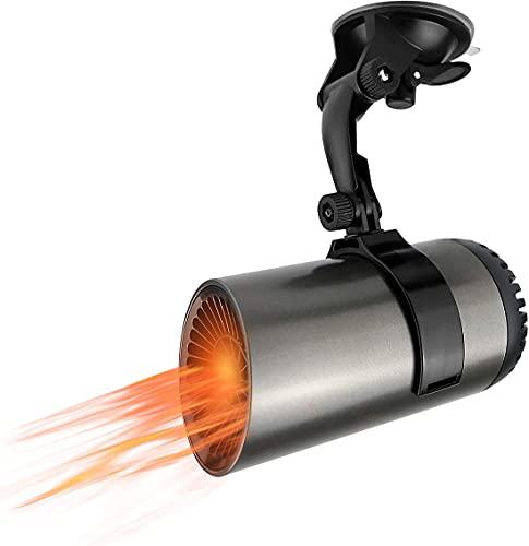 XWZ Calentador De Automóvil, con Purificación De Aire, 12V 150W Enchufe De Cigarrillos Descongelador De Automóvil con Soporte De Ventosa, Calefacción Y Enfriamiento Rápidos