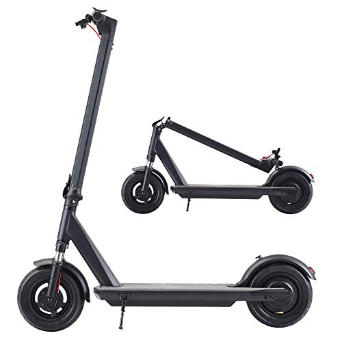 Electric Kick Scooter - 350W Max Speed 18.6 Mph,25 Miles Long Range Battery,10inch Solid Wheels,Foldable & Protable for Adults Commuters [2021 Latest]