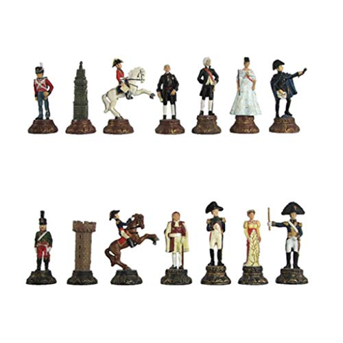 HJHJ Ajedrez Creativo Piezas de ajedrez pintadas vívidamente 32 Piezas de ajedrez de Resina Imagen Creativa Figuras tridimensionales para reemplazar Piezas faltantes Regalos de ajedrez