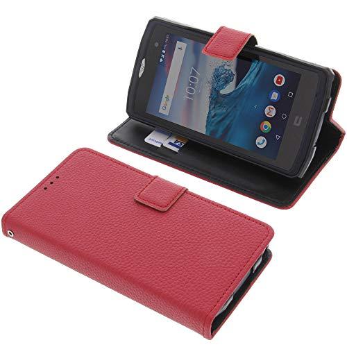 foto-kontor Tasche für CrossCall Core X3 Book Style rot Schutz Hülle Buch