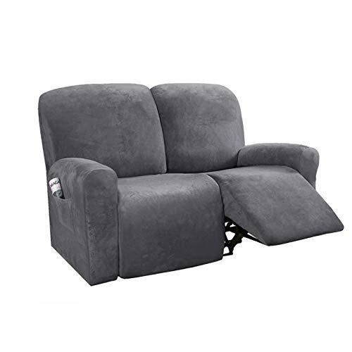 HUANXA Stretch Recliner Slipcover for 1 2 3 Seater Reclining, Velvet Sofa...