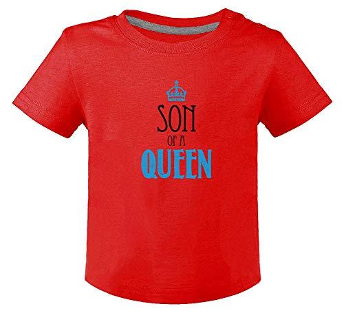 Green Turtle Fête des mères - Fils d'une Reine T-Shirt Bébé Unisex 18M Rouge