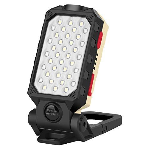 Powerole LED Arbeitsscheinwerfer, Akku Baustrahler Werkstattlampe Wiederaufladbare Flutlicht LED Arbeitsscheinwerfer handlampen Magnetische Campinglampe, für Camping, Angeln, Notfall