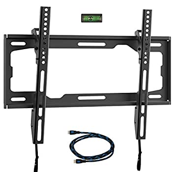 WALI Tilt TV Wall Mount Bracket for Most 26-55 inches LED LCD OLED Flat Screen TVs up to 99lbs with VESA 100x100mm to 400x400mm  TTM-1  Black